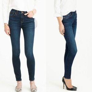 J. Crew toothpick dark wash skinny stretch jeans